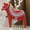 Cookie Cutter Dala Horse Set of 2, Tin