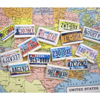 State License Plates Wafer Paper