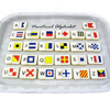 Nautical Flag Alphabet Wafer Paper, Set of 26 Images