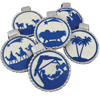 Nativity Ornaments Wafer Paper