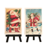 Vintage Santa Postcards Wafer Paper