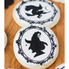 Halloween Cameo Witch Silhouettes Wafer Paper, Set of 22