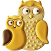 Cookie Cutter Owl Pair, Stainles