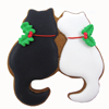 Cookie Cutter Pair of Cats, Stainless Stee