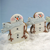 Cookie Cutter Snowman with Scarf, Tin 3