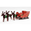 3D Reindeer & Sleigh Cookie Cutters, Stainless Steel