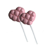 Medium Tufted Heart Chocolate Lollipop Mold