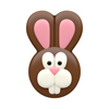 Chocolate Covered Oreos Easter Bunny Face Mold