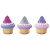 Queen Crowns Rings Cupcake Decorations, Set of 12