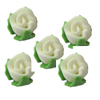 Icing Tiny Rose Buds White, Set of 50