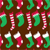 Holiday Stockings Chocolate Transfer Sheet