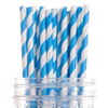 Striped Paper Straws Blue, Package of 144