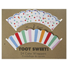 Toot Sweet Cupcake Wrappers, Set of 24