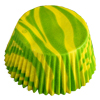 SALE!  Muffin Cup Zebra Yellow/Lime Green