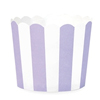 Muffin Cup Scalloped Stripe Lilac, Pkg of 25