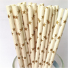 Gold Stars Paper Straws, Package of 25