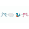 Baby Blue Bird Garland, 11'