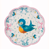 Baby Blue Bird Plates Package of 8