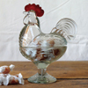 Vintage Reproduction Pressed Glass Hen Dish