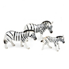 Porcelain Miniature Zebra Family, 2