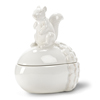 Porcelain Squirrel on Acorn Covered Box