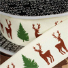 Wired Tree and Stag Ribbon, 3 yards