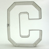 Cookie Cutter Varsity Letter C