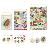 Cavallini Vintage Christmas Birds Petite Treat Bag Set