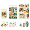 Cavallini Vintage Cats Petite Treat Bag Set
