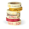 Cavallini Paris Decorative Tape, 5 Assorted rolls