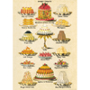 Cavallini Sweet Treats Wrapping Paper, 20