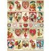 SALE!  Cavallini Vintage Valentine Wrapping Paper, 20