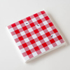 Gingham Paper Napkins With Ants, Set of