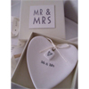 MR and MRS Porcelain Ring Heart Dish