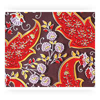 Red Patterned Chocolate Transfer Sheets