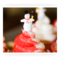 Winter Cupcake & Cake Decorations