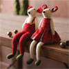 Red Felt Mice, Set of 2