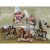 Vintage Scrapbook Animal Ornaments, Set of 5