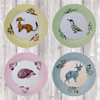 Fauna Dessert Plates, Set for 4