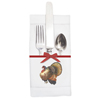 Pocket Napkin Set of 6 Thanksgiving Turkey