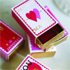 Valentine Match Boxes, Set of 6