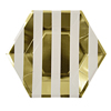 Gold Stripe Large Plates, Set of 8