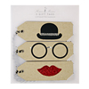 SALE!  Bowler Hat & Spectacles Gift Tags, Set of 3