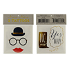 Bowler Hat & Spectacles Tattoos, Set of 2
