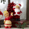 Vintage Santa & Mrs. Santa  Candles, Set of 2