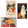 Vintage Halloween Tin Signs, Set of 3