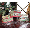 Vintage Christmas Cookie Tins, Set of 3