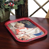 Vintage Baking Girl Christmas Tray