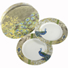 SALE!  Isbanir Peacock Motif Porcelain, Set of 2 Plates