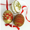 HOLIDAY SALE! Peter Priess Hand Decorated Faberge Eggs, Set of 3